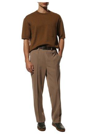 Мужские кожаные слипоны BARRETT хаки цвета, арт. TAHITI-01.5/MASTCALF | Фото 2