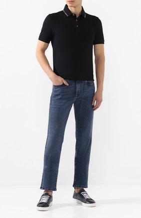Мужские кожаные кеды BARRETT темно-синего цвета, арт. N0LE-04.3/NAX0S SUPER DEL | Фото 2