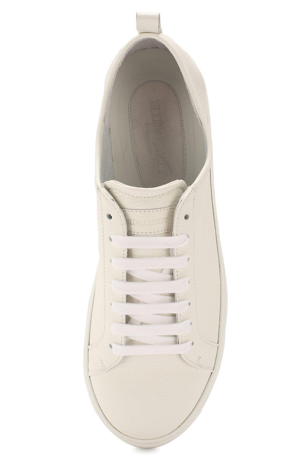Мужские кожаные кеды BARRETT белого цвета, арт. N0LE-03.2/MASTCALF | Фото 5