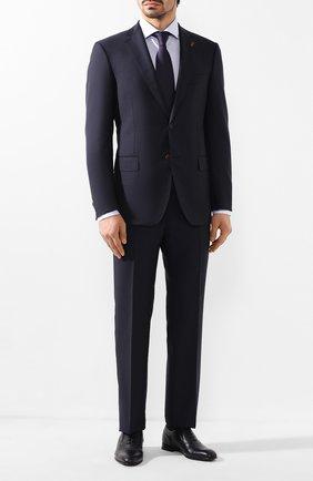 Мужские кожаные оксфорды BARRETT темно-синего цвета, арт. 201U098.2/CERV0 ASP0RTABILE | Фото 2 (Материал внутренний: Натуральная кожа; Статус проверки: Проверена категория; Стили: Классический)