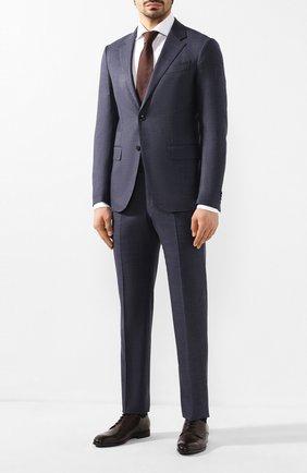Мужской кожаные дерби BARRETT темно-коричневого цвета, арт. 201U095.4/C0RSAR0 | Фото 2