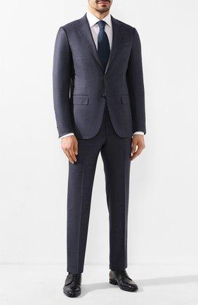 Мужской кожаные дерби BARRETT темно-синего цвета, арт. 201U095.3/C0RSAR0 | Фото 2