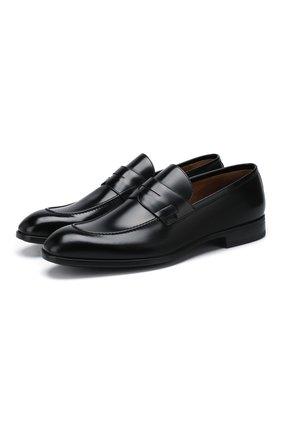 Мужские кожаные пенни-лоферы BARRETT черного цвета, арт. 201U064.3/VITELL0 K | Фото 1