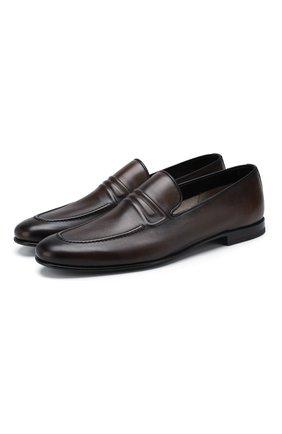 Мужские кожаные лоферы BARRETT темно-коричневого цвета, арт. 191U060.12/C0RSAR0   Фото 1