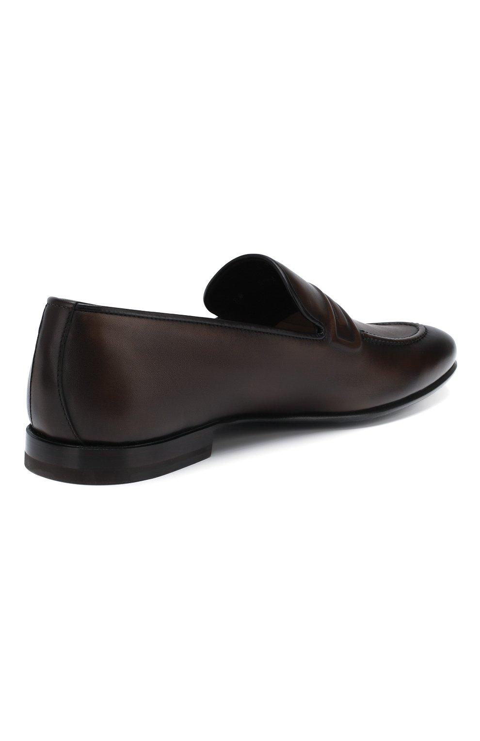 Мужские кожаные лоферы BARRETT темно-коричневого цвета, арт. 191U060.12/C0RSAR0   Фото 4