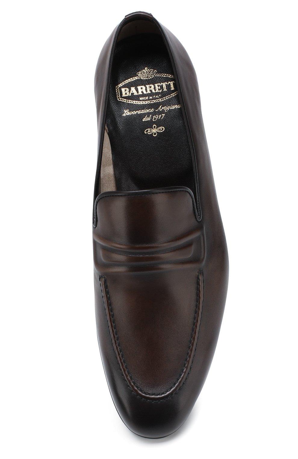 Мужские кожаные лоферы BARRETT темно-коричневого цвета, арт. 191U060.12/C0RSAR0   Фото 5