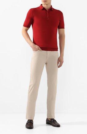 Мужские кожаные лоферы BARRETT бордового цвета, арт. 171U067.18/CERV0 ASP0RTABILE   Фото 2