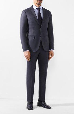 Мужской кожаные дерби BARRETT темно-синего цвета, арт. 111U016.57/CERV0 | Фото 2