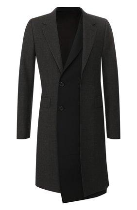 Мужской пальто ALEXANDER MCQUEEN темно-серого цвета, арт. 595438/Q0R25 | Фото 1