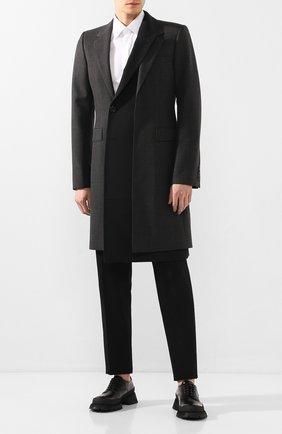 Мужской пальто ALEXANDER MCQUEEN темно-серого цвета, арт. 595438/Q0R25 | Фото 2
