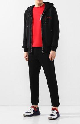Мужская хлопковая толстовка ALEXANDER MCQUEEN черного цвета, арт. 599617/Q0Z82 | Фото 2