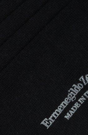Мужские носки из смеси хлопка и кашемира ERMENEGILDO ZEGNA темно-синего цвета, арт. N5V402770 | Фото 2