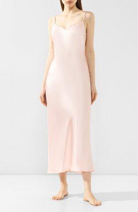 Женская шелковая сорочка MARJOLAINE розового цвета, арт. ODANA_0003   Фото 2