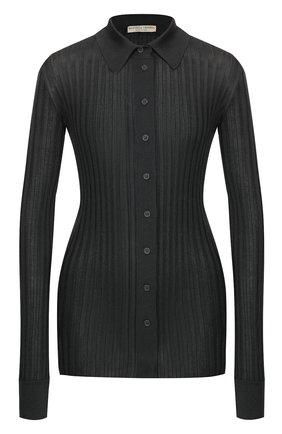 Женский шелковый кардиган BOTTEGA VENETA серого цвета, арт. 601693/VKJM0 | Фото 1