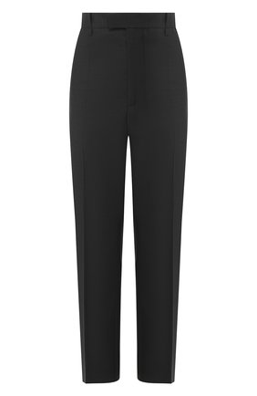 Женские шерстяные брюки BOTTEGA VENETA серого цвета, арт. 599728/VKIU0 | Фото 1 (Статус проверки: Проверена категория; Женское Кросс-КТ: Брюки-одежда; Материал внешний: Шерсть; Случай: Формальный; Силуэт Ж (брюки и джинсы): Прямые)