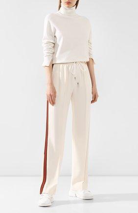 Женские брюки CHLOÉ белого цвета, арт. CHC20SPA85237 | Фото 2