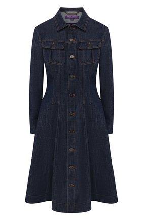 Женское джинсовое платье RALPH LAUREN темно-синего цвета, арт. 290789714 | Фото 1