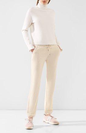 Женские кашемировые брюки LORO PIANA кремвого цвета, арт. FAL0651 | Фото 2