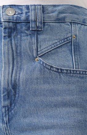 Женские джинсы ISABEL MARANT голубого цвета, арт. PA1461-20P016I/D0MINIC   Фото 5