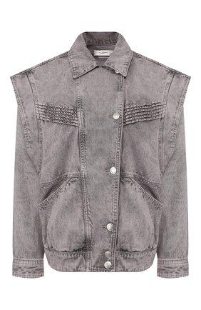 Женская джинсовая куртка ISABEL MARANT ETOILE бежевого цвета, арт. VE1210-20P017E/HARM0N | Фото 1