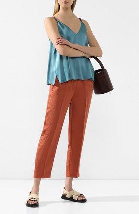 Женские брюки FORTE_FORTE коричневого цвета, арт. 7012 | Фото 2