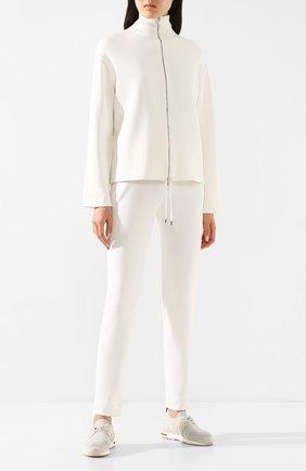 Женский шелковый кардиган LORO PIANA белого цвета, арт. FAI9489 | Фото 2