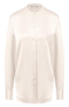 Женская шелковая блузка VINCE светло-бежевого цвета, арт. V629712244 | Фото 1