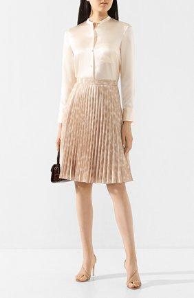 Женская шелковая блузка VINCE светло-бежевого цвета, арт. V629712244 | Фото 2