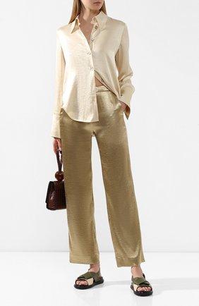 Женские брюки VINCE золотого цвета, арт. V632921740 | Фото 2