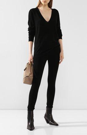 Женская кашемировый пуловер RICK OWENS черного цвета, арт. RP20S1623/WS   Фото 2