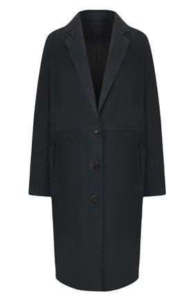 Женское замшевое пальто YVES SALOMON темно-синего цвета, арт. 20EYM20704APDF | Фото 1