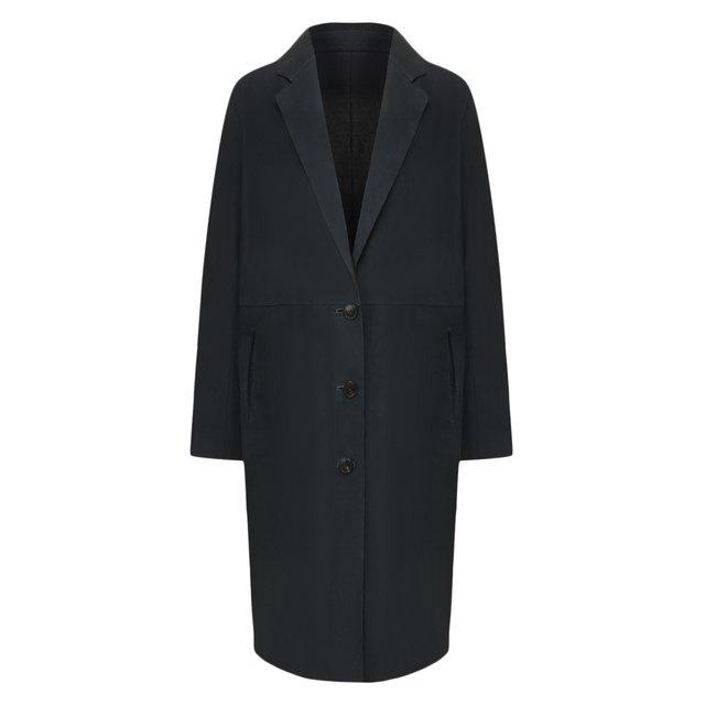 Замшевое пальто Yves Salomon