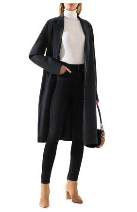 Женское замшевое пальто YVES SALOMON темно-синего цвета, арт. 20EYM20704APDF | Фото 2