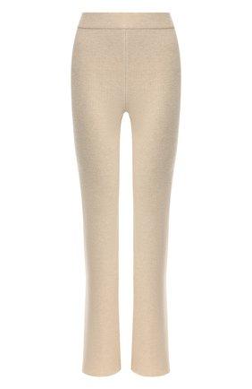 Женские брюки NANUSHKA кремвого цвета, арт. LEBA_CREME_CASHMERE BLEND RIB   Фото 1