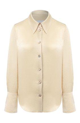 Женская блузка NANUSHKA бежевого цвета, арт. MANDINE_WAX YELL0W_WASHED SATIN   Фото 1