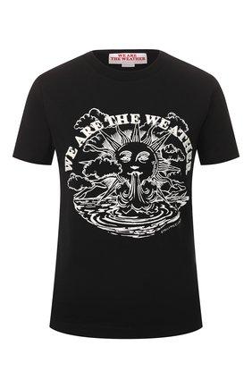 Женская хлопковая футболка STELLA MCCARTNEY черного цвета, арт. 600422/SNW62 | Фото 1