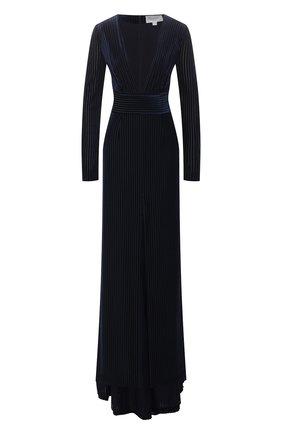 Женское платье-макси GALVAN LONDON темно-синего цвета, арт. 1846 VELVET DEV0RE | Фото 1