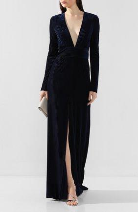 Женское платье-макси GALVAN LONDON темно-синего цвета, арт. 1846 VELVET DEV0RE | Фото 2