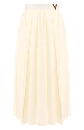 Женская юбка в складку VALENTINO белого цвета, арт. TB3MD01M5AN | Фото 1