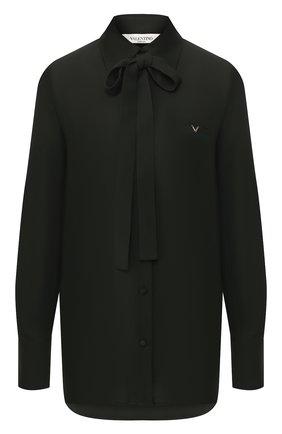 Женская шелковая блузка VALENTINO хаки цвета, арт. TB3AB16K1MH   Фото 1