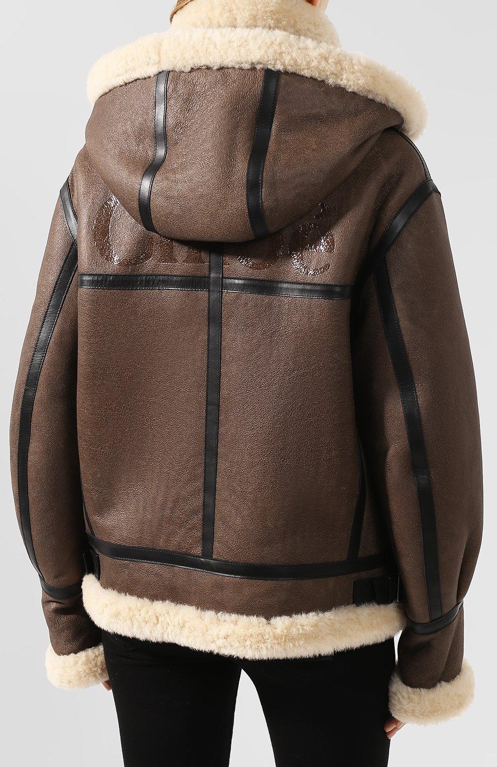 Женская дубленка CHLOÉ коричневого цвета, арт. CHC20SCV87210 | Фото 4