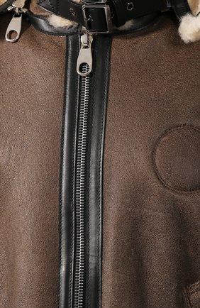Женская дубленка CHLOÉ коричневого цвета, арт. CHC20SCV87210 | Фото 5