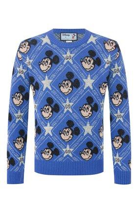 Мужской шерстяной свитер disney x gucci GUCCI синего цвета, арт. 601563/XKA57 | Фото 1