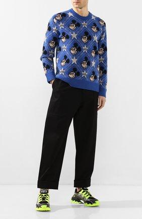 Мужской шерстяной свитер disney x gucci GUCCI синего цвета, арт. 601563/XKA57 | Фото 2
