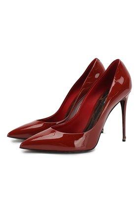 Женская кожаные туфли kate DOLCE & GABBANA оранжевого цвета, арт. CD0041/AC062 | Фото 1