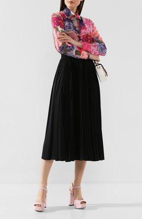 Женские кожаные босоножки SERGIO ROSSI светло-розового цвета, арт. A81800-MVIV01 | Фото 2