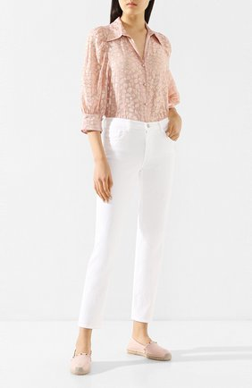 Женские кожаные эспадрильи valentino garavani rockstud VALENTINO светло-розового цвета, арт. TW2S0K64/VT0   Фото 2
