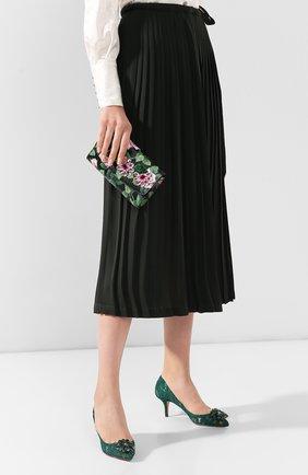 Женские кожаный кошелек на цепочке DOLCE & GABBANA черного цвета, арт. BI1275/AJ761 | Фото 2