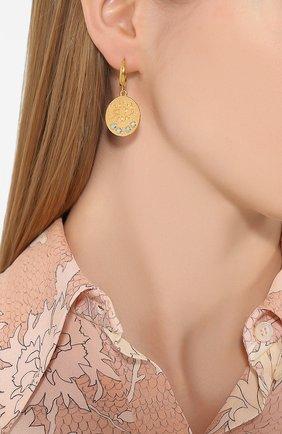 Женские серьги HERMINA ATHENS золотого цвета, арт. KS0EG | Фото 2