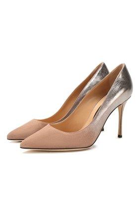 Женская кожаные туфли SERGIO ROSSI бежевого цвета, арт. A43843-MCAS19 | Фото 1